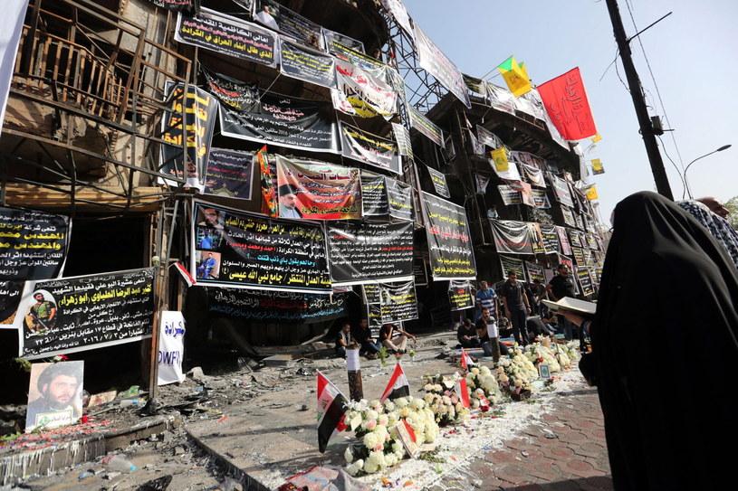 Bagdad pamięta o ofiarach zamachu /ALI ABBAS /PAP/EPA