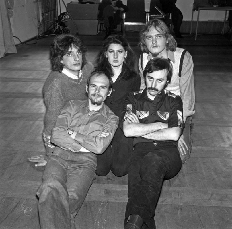 Bajm, 1979 r. - od lewej: Marek Winiarski, Jarosław Kozidrak, Beata Kozidrak, Andrzej Pietras, Andrzej Gronkiewicz /Jacek Mirosław /Agencja FORUM