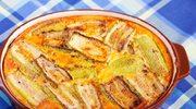 Bakłażan zapiekany z serem, jajkami i śmietaną