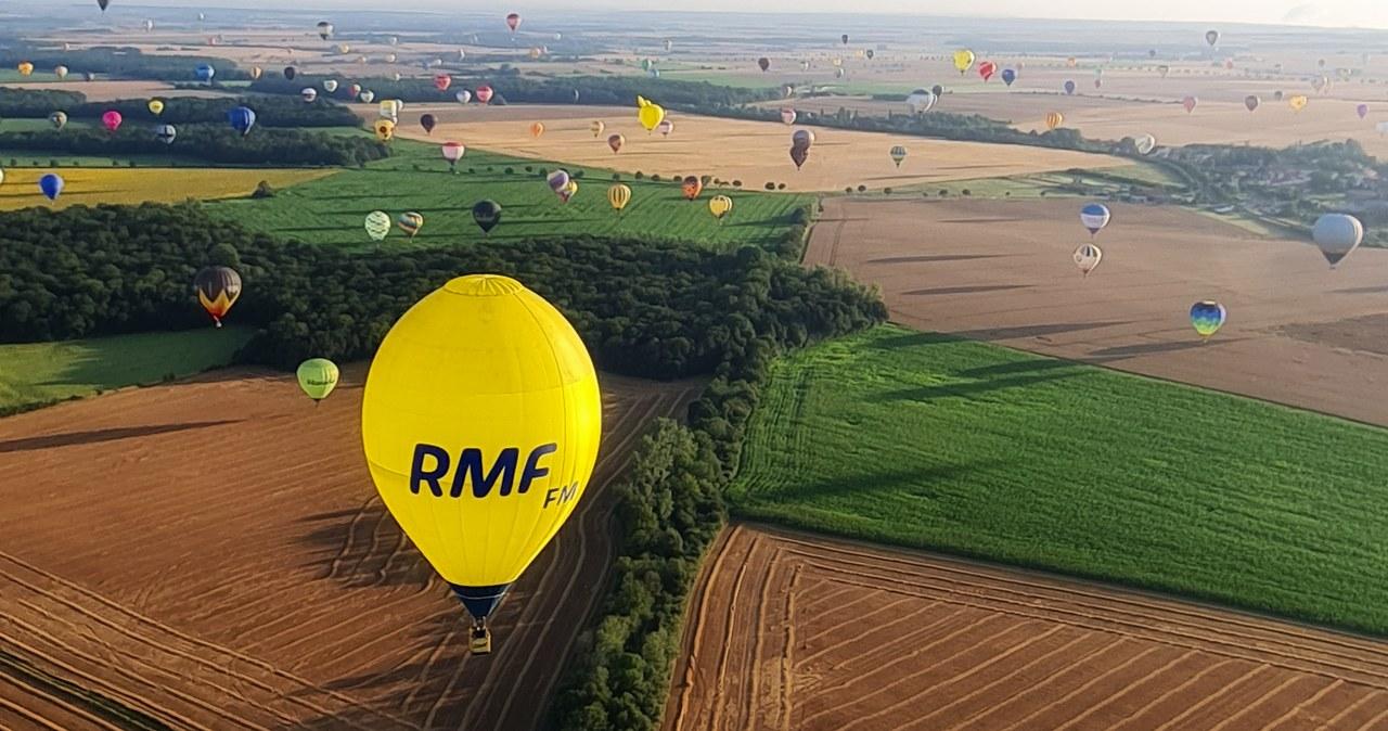 Balon RMF FM na francuskim niebie. Zobacz niezwykłe zdjęcia