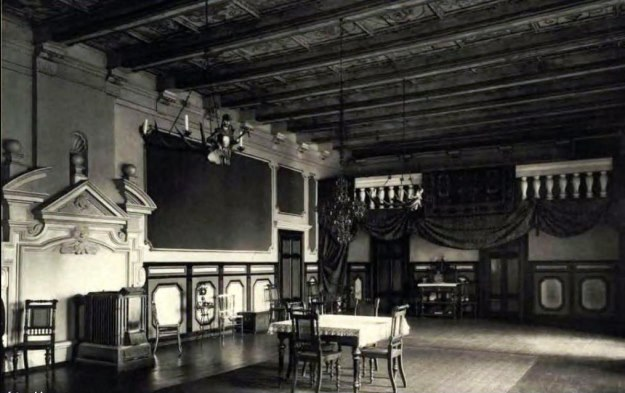 Balowa sala pałacu w Lasowie, ok. 1910 r. /Zb. Sz. Wrzesińskiego /Odkrywca