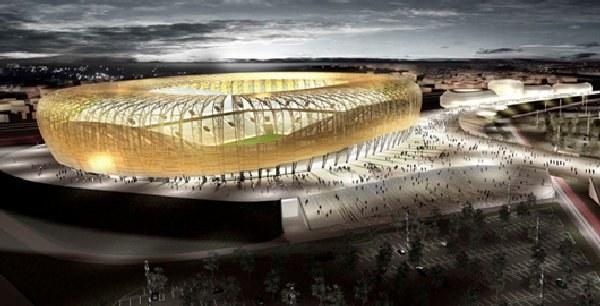 Baltic Arena swym wyglądem i funkcjonalnością ma rzucić na kolana Europę. /Informacja prasowa
