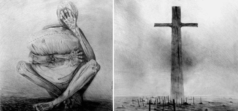 """Banach wysyła rysunki Beksińskiemu. Beksiński odpisuje: """"Zdaje sobie Pan sprawę, że w jednym z rysunków jest szereg cytatów z moich i być może nie tylko moich prac? /archiwum prywatne"""