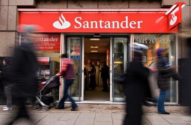 Banco Santander Central Hispano - największy w strefie euro- działa w Hiszpanii i m.in. w Polsce /AFP