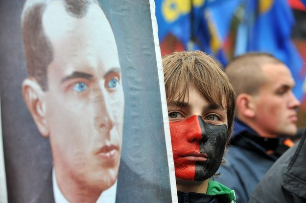 Bandera i banderowiec /AFP