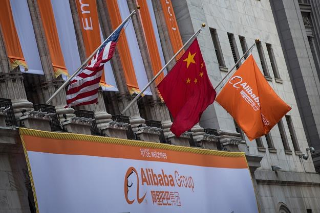 Baner Alibaba Group w dzień debiutu na NYSE /AFP