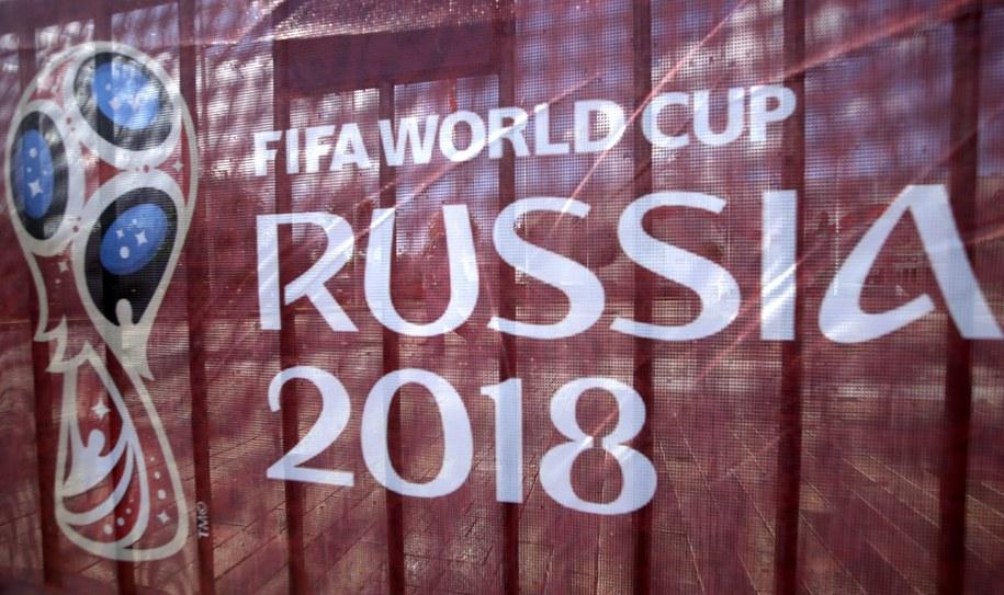 Baner promujący MŚ 2018 w Rosji /TATYANA ZENKOVICH  /PAP/EPA