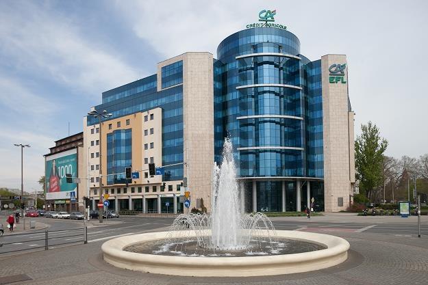 Bank Credit Agricole, centrala we Wrocławiu. Fot. Andrzej Bogacz /FORUM