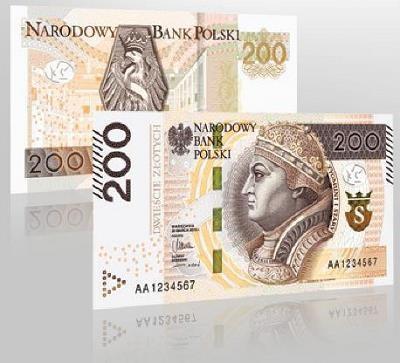 Banknot 200 zł ze zmodernizowanymi zabezpieczeniami /NBP