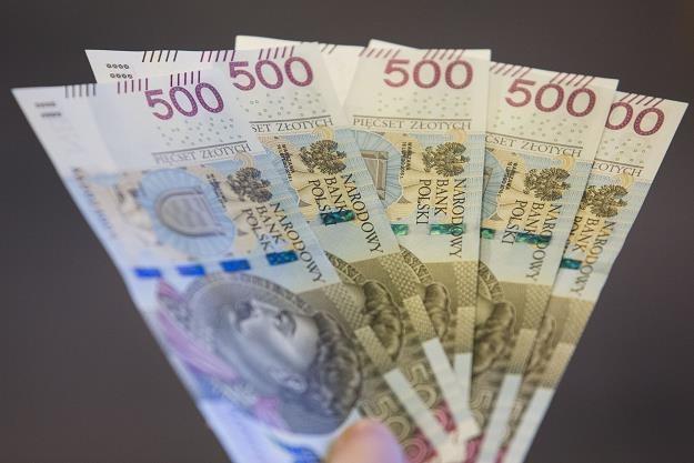 Banknot o nominale 500 zlotych. Fot. Andrzej Hulimka /Reporter