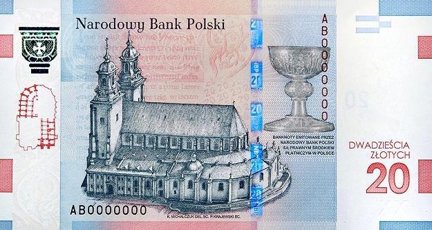 Banknot z podobizną Mieszka I i Dobrawy - odwrotna przednia strona /NBP