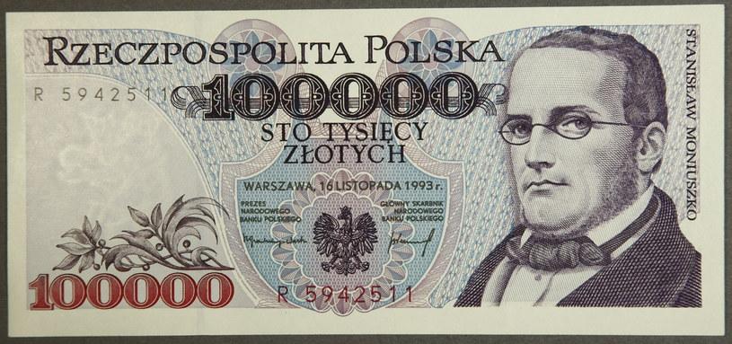 Banknot z wizerunkiem Stanisława Moniuszki / Krzysztof Żuczkowski /Agencja FORUM