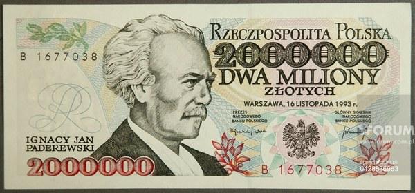 Banknot 2000 000 zł