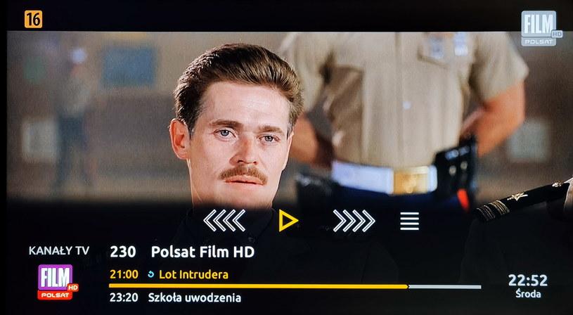 Banner informacyjny na temat aktualnie oglądanej treści wideo /INTERIA.PL