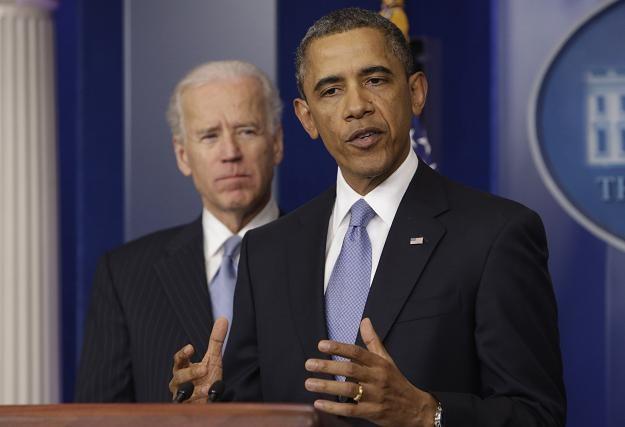 Barack Obama 1 stycznia 2013 r. w Białym Domu /AFP