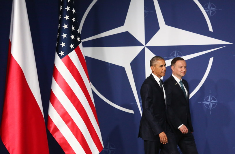 Barack Obama i Andrzej Duda /Leszek Szymański /PAP