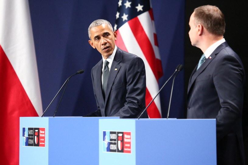 Barack Obama i Andrzej Duda /AFP