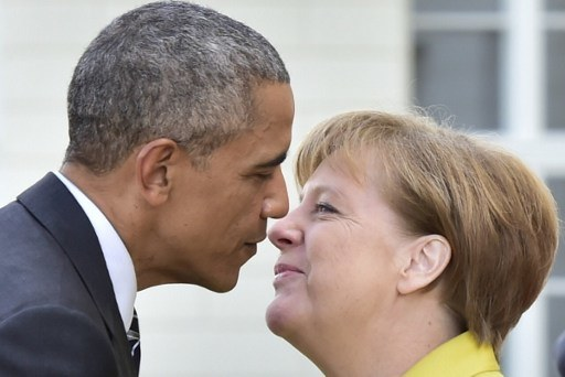 Barack Obama i Angela Merkel /AFP