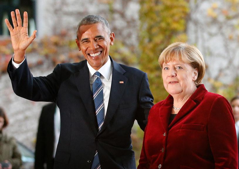 Barack Obama i Angela Merkel /REUTERS/Fabrizio Bensch /Agencja FORUM