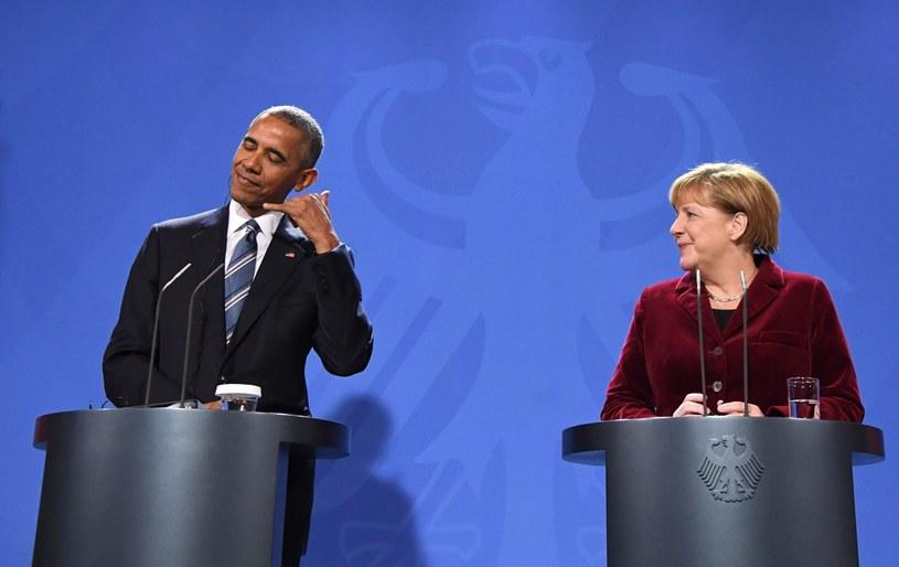 Barack Obama i Angela Merkel /PAP/EPA