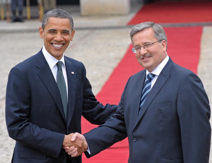 Barack Obama i Bronisław Komorowski /AFP