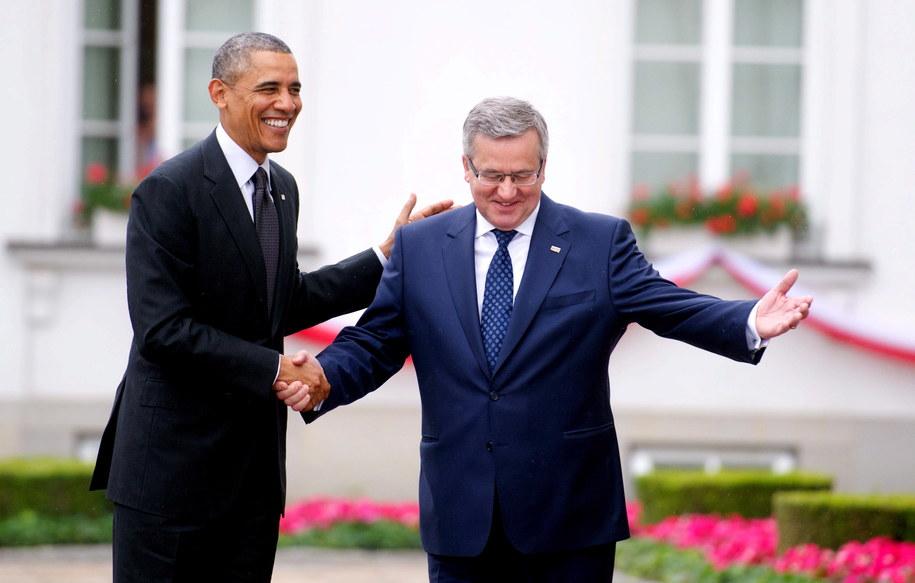 Barack Obama i Bronisław Komorowski /Bartłomiej Zborowski /PAP