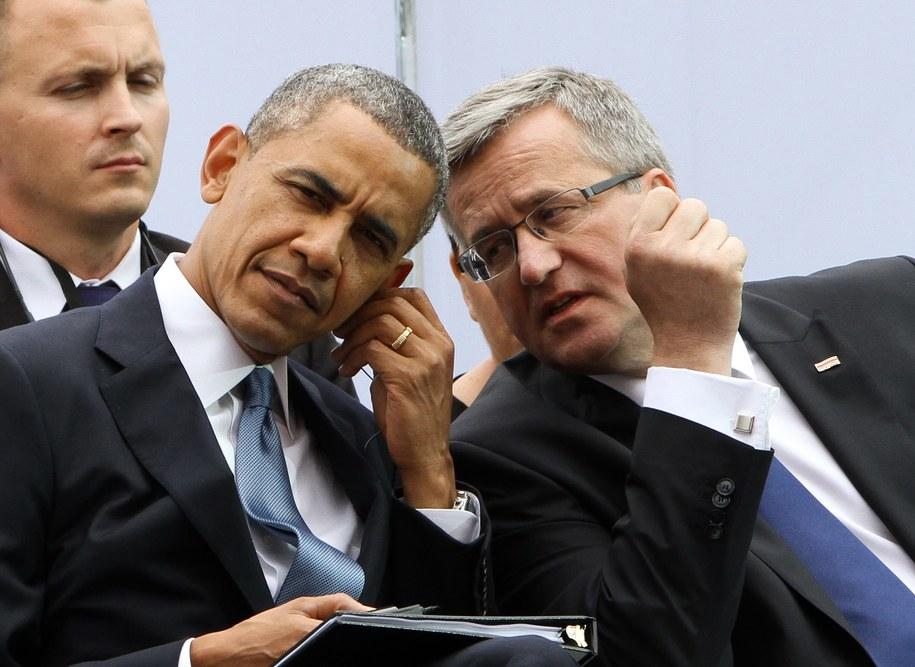 Barack Obama i Bronisław Komorowski / Paweł Supernak   /PAP