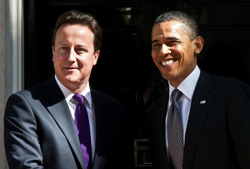 Barack Obama i David Cameron /AFP
