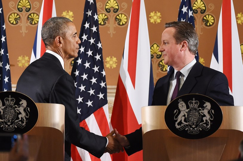 Barack Obama i David Cameron /PAP/EPA