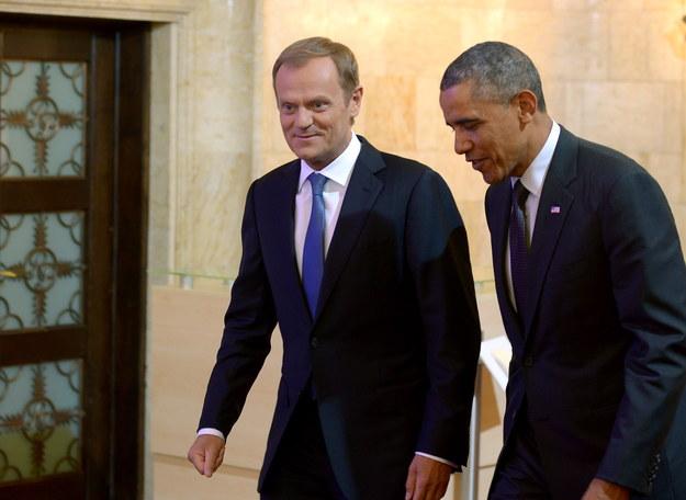 Barack Obama i Donald Tusk /Radek Pietruszka /PAP