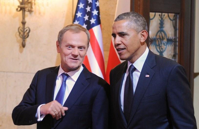 Barack Obama i Donald Tusk /AP /East News