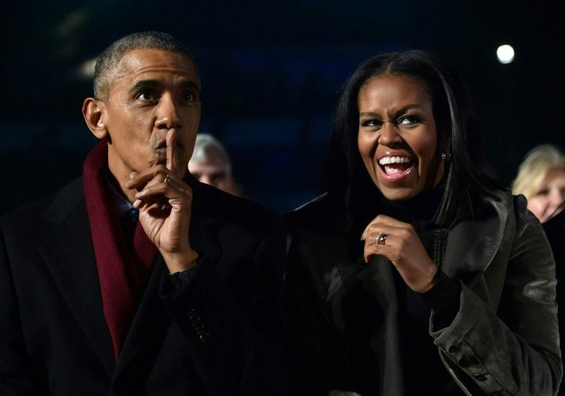 Barack Obama i jego żona, Michelle /NICHOLAS KAMM / AFP /AFP