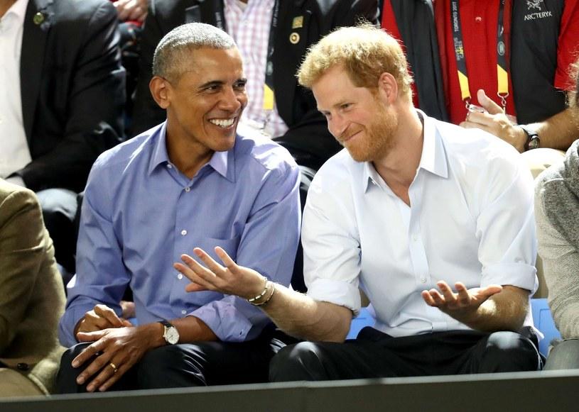 Barack Obama i książę Harry /Chris Jackson/afp /East News
