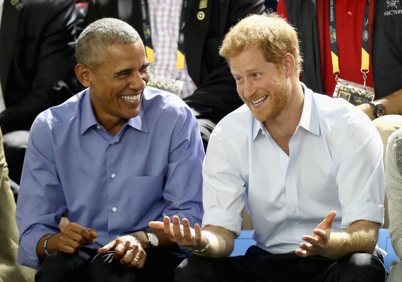 Barack Obama i książę Harry /Chris Jackson / Staff  /Getty Images