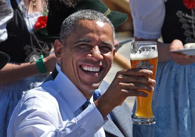 """Barack Obama i """"śniadanie mistrzów"""" /AFP"""
