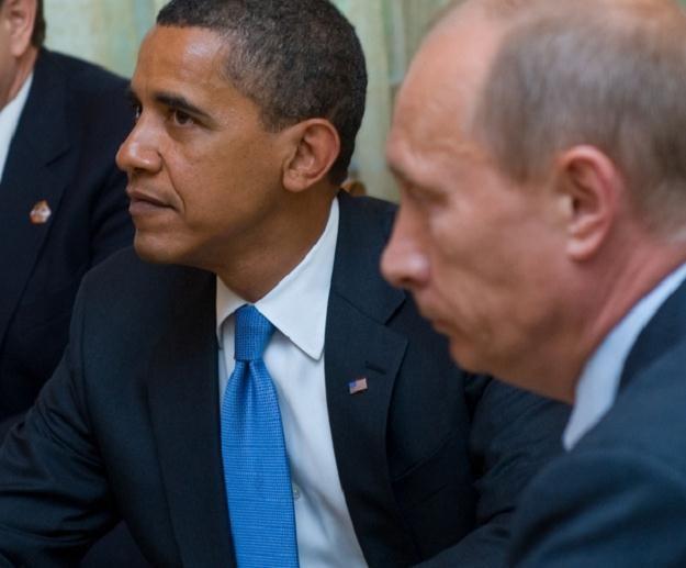 Barack Obama i Władimir Putin /AFP