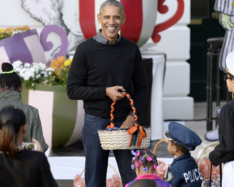 Barack Obama ma ogromne poczucie humoru! /Pool /Getty Images