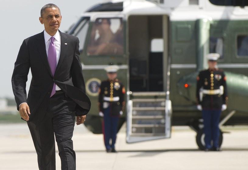 Barack Obama na lotnsku w Chicago /SAUL LOEB /AFP