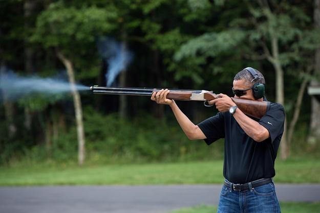 Barack Obama na ranczu w Camp David (Maryland), 4 sierpnia 2012 /AFP