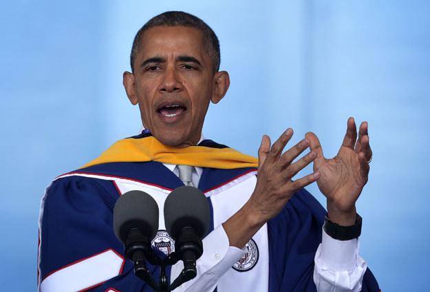 Barack Obama na razie nie wraca do Chicago /AFP