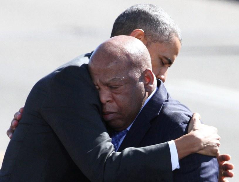 Barack Obama na uroczystościach w Alabamie /PAP/EPA