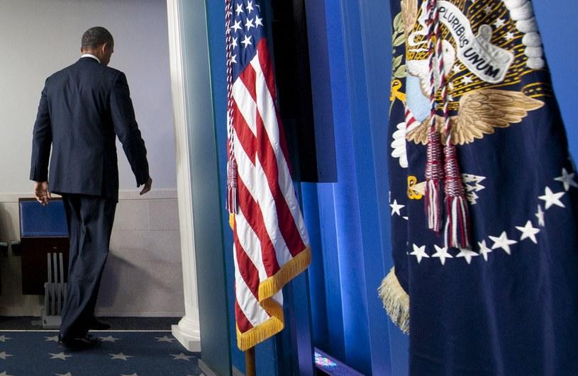 Barack Obama po wygłoszeniu przemówienia 30 września /AFP
