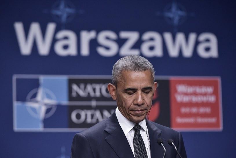 Barack Obama podczas konferencji prasowej /AFP