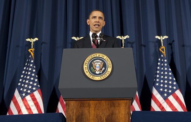 Barack Obama podczas przemówienia /AFP