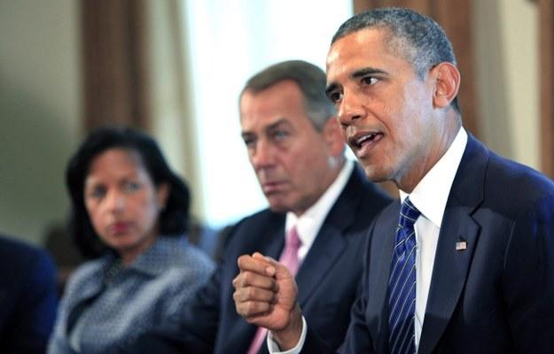 Barack Obama podczas spotkania z członkami Kongresu /DENNIS BRACK /PAP/EPA