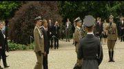 Barack Obama przed Pomnikiem Bohaterów Getta