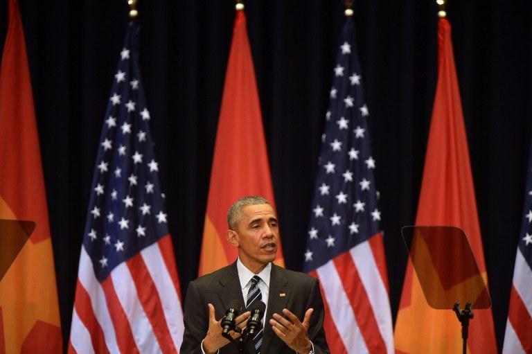 Barack Obama w Hanoi /HOANG DINH NAM / POOL / AFP /AFP