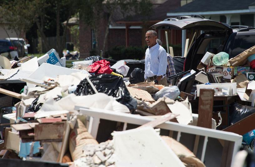Barack Obama w Luizjanie /AFP
