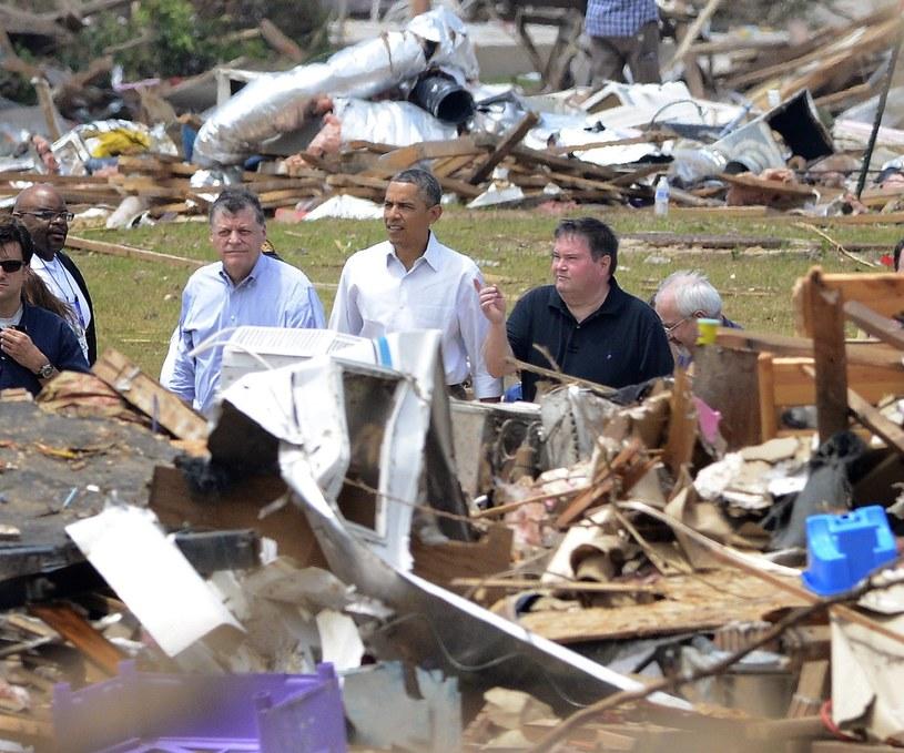 Barack Obama w Moore /PAP/EPA