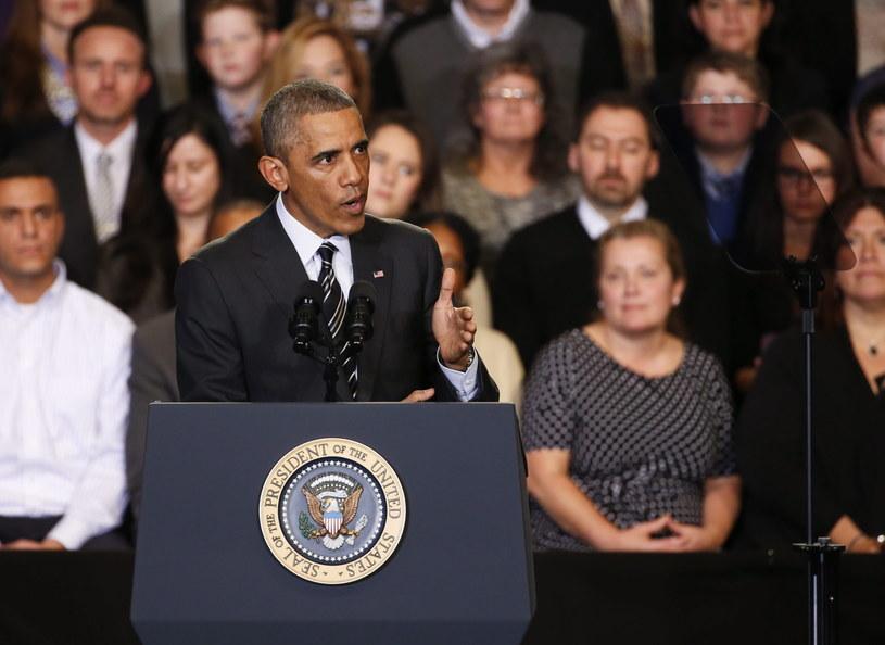 Barack Obama w polonijnym Copernicus Center w Chicago /PAP/EPA